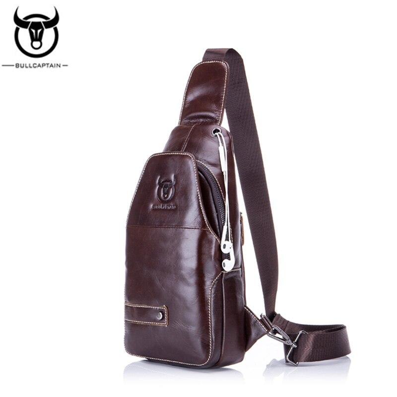 BULL CAPTAIN 2017 Leather chest MESSENGER BAGS FAMOUS Brand MEN Shoulder BAGS Fashion zipper sling bag MALE Crossbody Bag 087<br>