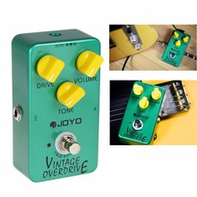 JOYO JF-01 DC 9V Vintage Overdrive Full Sound Guitar Effects with True Bypass for Classic Tube-screamer