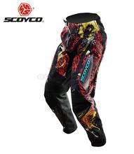 SCOYCO Professional Motorcycle Dirt Bike MTB DH MX Riding Trousers Motocross Off-Road Racing Hip Pads Pants Breathable Clothing(China)