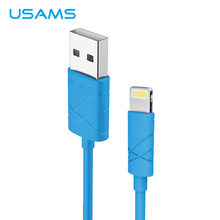 USAMS Usb Cable For iPhone Cable, USB Charger Cable For iPhone 5 6S i6 i5 iPad air Mobile Phone Cable with iOS 10 for iPhone 7