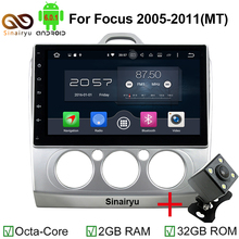"Octa Core 2 Din 10.1"" Android 6.0 Car PC DVD GPS For Ford Focus 2005-2011 With 2GB RAM Stereo Radio Bluetooth 32GB ROM(China)"