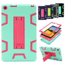 Tablet Case For Amazon Kindle Fire HD 8 2016 With Hard Stand Shockproof Protect Shell Cover Case(China)