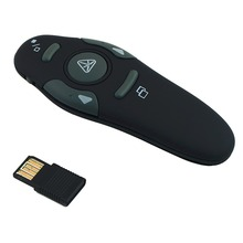2.4GHz Wireless Portable USB PowerPoint Presenter RF Remote Control Red Laser Pointer Pen Exquisite Plug and Play