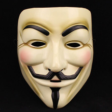 20pcs/lot Halloween V for Vendetta Mask Guy Fawkes Costume Accessor Party Mask Supplies Masque halloween  Wholesale G-045-2