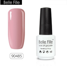 BELLE FILLE UV Gel Nail Polish 8ml UV Nail Gel Pink Nude Color Lacquer Gelpolish Varnish Professional fingernail Polish