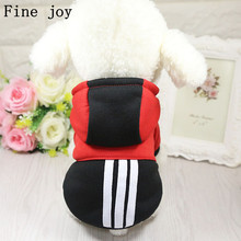 Fine joy 1pcs Winter Warm Dog Clothes Puppy Pet Cat Jacket Coat Fashion Soft Sweater Clothing For Chihuahua Teddy