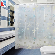 PEVA Bathroom Shower Curtains Water Proof Bath Curtain scenic pattern 180X180CM Europe Modern Type 100% High Quality