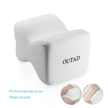 OUTAD Slow Rebound Memory Foam Cotton Orthopedic Knee Pillow Breathable Cover Pressure Relieving for Back Leg Hip Pain Relief