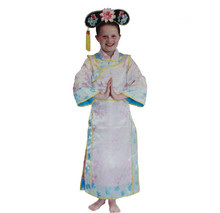 Unique Girls Cosplay Costumes Girls Ancient China Princess Costumes Old Style Cheongsam For Halloween(China)