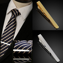 Fashion Men's Metal Silver Gold Simple Necktie Tie Bar Clasp Clip Clamp Pin 77IJ 7S6T
