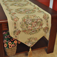 Luxury Burlap and Lace Table Runner Wedding Decoration Modern Jute Lace Table Runners Vintage Tablecloth Home Textile 33x250cm
