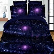 3D Print Sheet Pillowcase Duvet Cover Sets 4Pcs Sky Pattern Queen Bedding Set For 2m Bed Covers 4 Colors Available