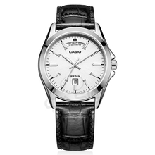 Casio watch Top Luxury Brands Wristwatch Men's Watches Silvery Casual Man Watch Retro Original Relogio Masculino Steel MTP-1370L(China)