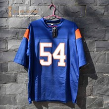 TIM VAN STEENBERGE Thad Castle 54 Mountain State TV Show de Futebol Jersey-Azul(China)