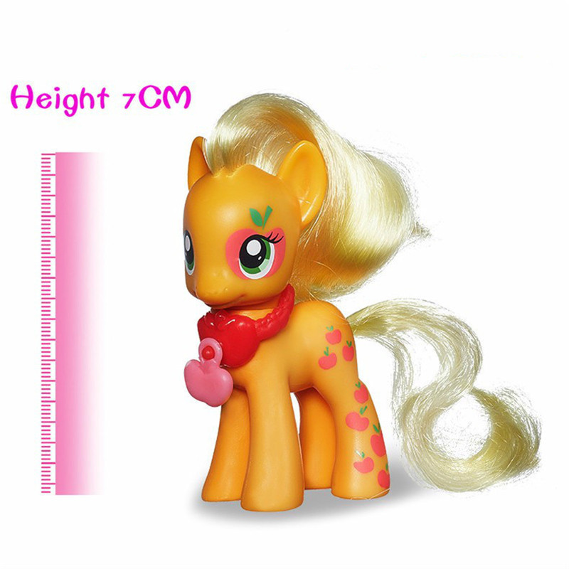Pony Toys Horse in Action Figure 7CM Cute Logo Base Style Beautiful Package Toy Model PVC Doll For over 3 year Girls Kids Toy<br><br>Aliexpress
