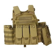 Desert Tan Tactical Molle Strike Plate Carrier Vest Steel Wire Vest Hunting Outdoor Military Equipment CP Camouflage Clothes(China)