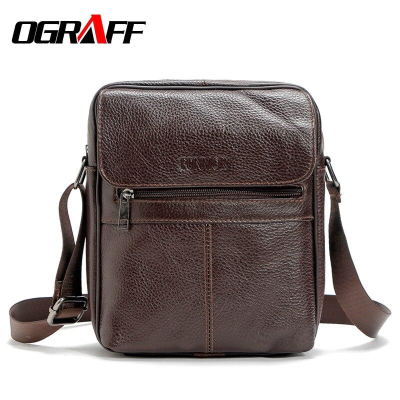 OGRAFF Genuine leather bag men messenger bags briefcases men crossbody bag high quality vintage 2017 classic leather men bag<br><br>Aliexpress