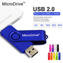 MICRODRIVE colorful rotatable USB 2.0 OTG For Android Phone Memory Stick Pen Drive 4g/8g/16g/32g/64g USB Flash Drive