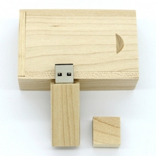2017 Hot Sale Wooden 512 GB USB Flash Drive Pen Drives Maple Wood+Packing Box 8GB 16GB 32GB 64GB Memory Stick Gift Pendrive 2.0