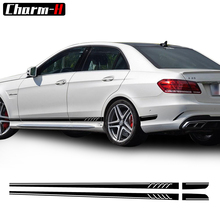 507 Style Side Stripes Decal Sticker Mercedes Benz W212 E 63 Class AMG E300 E350 E500 -Black/SilverGrey/White Stickers