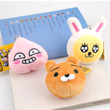2017 New Korean Fashion Game Kakao Friends Lions Rabbits Plush Toys Pendants Anime Cartoon Emoji Dolls Gift 12pcs/lot 7-9cm