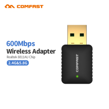 COMFAST CF-915AC 600Mbps Dual Band USB Wi fi 802.11ac Wireless N 11AC 2.4G/5.8G WiFi Adapter RTL8811AU Network PC Wifi Receiver