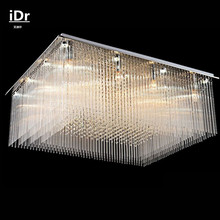 Rectangular crystal ceiling lights living room modern minimalist restaurant lamps bedroom lighting glass personality iDr-0114(China)