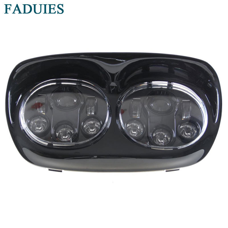 FADUIES 5.75 inch dual LED headlamps Harley Motorcycle 5 34 90W Led Motorcycle headlight For harley-davidson Road Glide dual (13)(1)3