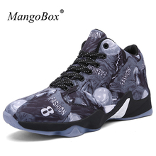 MangoBox 2017 New Basketball Shoes Mens Anti-Slip Girls Basketball Sneakers Mens Shoes Gray Yellow Basketball Shoes Girls(China)