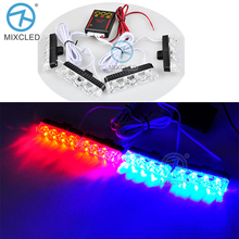 4x4/led DC 12V Strobe Warning light  Car Truck Light Flashing Firemen Lights 4 in 1 LE DRL Ambulance Police light