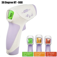 36 Degree HT-668 Non-Contact IR Digital Thermometer Gun Laser LCD Surface Baby Temperature Measurement Device