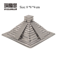3D Metal Kits Puzzles Model Stainless Steel DIY Assembly Buildings Maya Pyramid Jigsaw Collection Display Educational Kids Toys(China)