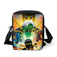 FORUDESIGNS Ninjago Messenger Bag For Kindergarten Children Girls Boys 3D Cartoon Printing Bags For Christmas Best Gift Mochila(China)