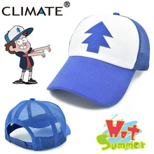 CLIMATE 2017 New Spring Summer Adult Kids Gravity Mabel Dipper Pines Bill Cool Cosplay Caps Baseball Mesh Net Trucker Caps Hat