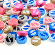Buy 20pcs Wooden Baby Feet Spacer Beading Beads 20mm Baby Toys & Pacifier Clip Wood Bead Bracelet Necklace DIY for $1.98 in AliExpress store
