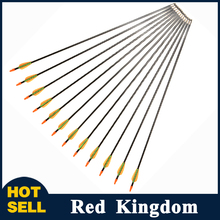 6/12/24/36/48pcs Fiberglass Arrows 28'' Archery For Children/Women Begaining Practice For Compound Bow For Children Practice(China)