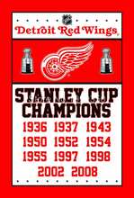Detroit Red Wings Stanley Cup Champions Flag 3ft x 5ft Polyester NHL Banner flag