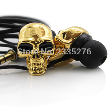 Free Shipping 1Pair 3.5mm Merkury Innovations Skull Earbuds For Skeleton Colletor Skull Earphones Available In Two Colors(China)