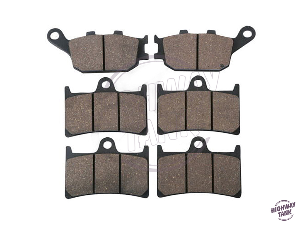 Free shipping 6 Pcs Semi-Metallic Motorcycle Front &amp; Rear Brake Pads Brake Disks case for YAMAHA FZ1 1000 Fazer ABS 2006-<br>