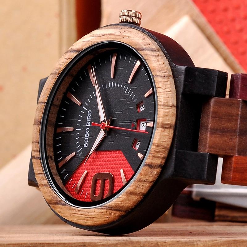 Wooden Quartz Wristwatch