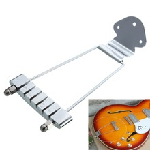 Chrome 6 String Guitar Tailpiece Trapeze Open Frame For Archtop Guitar