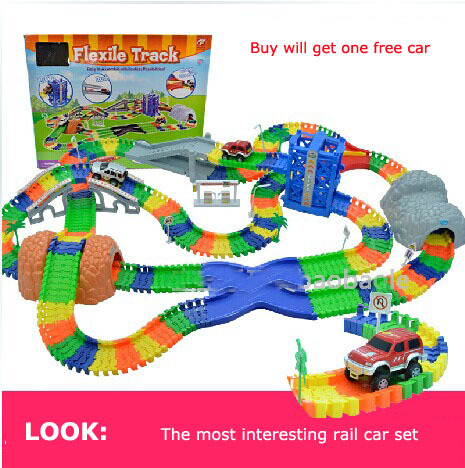 Children's toys large electric railway (288pcs / set) rail road train toy model railroad electrical boy toy gift for kids(China)