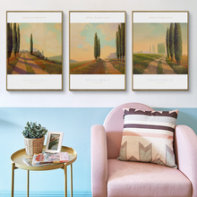 Popigist Allan Stephenson Oil Painting Tuscan Path Landscape A4 Canvas Art Print Poster Picture Wall Hall Home Decorative Mural
