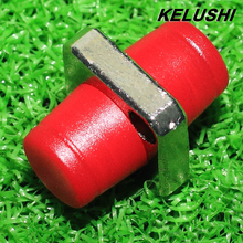 KELUSHI Newest 10PCS The telecommunication level FC square flange FC-FC optical fiber coupler adapter FC optical fiber adapters