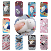 Lovely 3D Silicon Cartoon China Panda Bear Phone Case For iphone 6 6s 6plus 7 7Plus Cartoon Cat Soft TPU Phone Back Cover