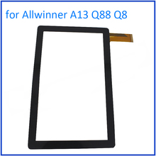 "ALANGDUO for Allwinner A13 Q88 Q8 7"" Inch Tablet Touch Screen Digitizer Glass Panel Front Sensor Touchscreen Window Replacement"