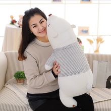 1pc 50 Lovely Polar Bear Plush Toys Stuffed Soft Animal Nap Pillow Cushion Creative Decoration Doll Gift for Girl