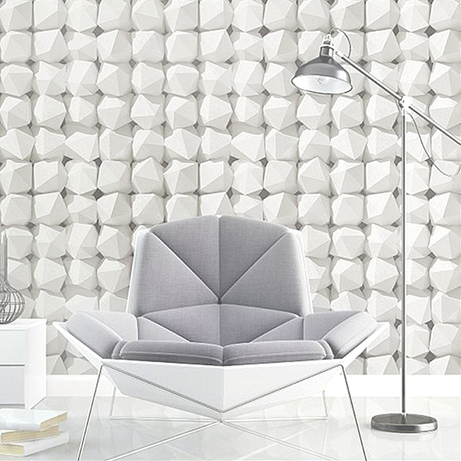 3D 0.53M*10M modern minimalist abstract geometry wallpaper  barbershop bedroom living room TV home background wall decor white<br>