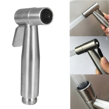 1pc Stainless Steel Hand Held Toilet Bidet Sprayer Bathroom Shower Head Washing Sprinkler Flusher Flushing Cleaning Bidets(China)