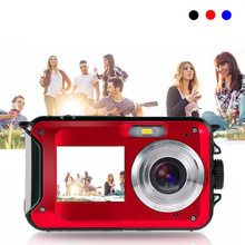 "24MP Full HD 1080P Digital Camera 2.7"" 1.8"" Dual LCD Screen Camcorder DV DVR Self-timer Selfie Best Gift for Girlfriend Student"